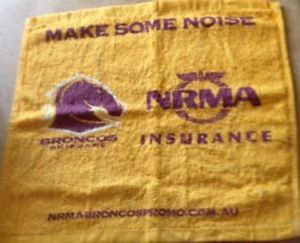 An optimistic punter had this towel for sale ... on Ebay!
