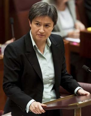 """The policy he has is a con job that you have when you think that climate change is absolute crap"": Penny Wong."