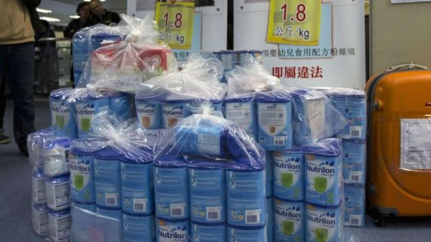 "Since March last year, a ""two-tin limit"" has been imposed by the Hong Kong government on baby formula."