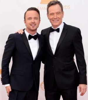 Nominated: Aaron Paul, left, and Bryan Cranston of <em>Breaking Bad</em>.