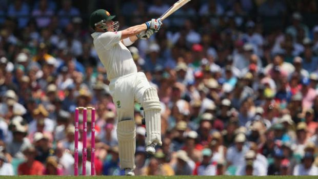 Strokeplay: Brad Haddin sends another boundary to the fence.