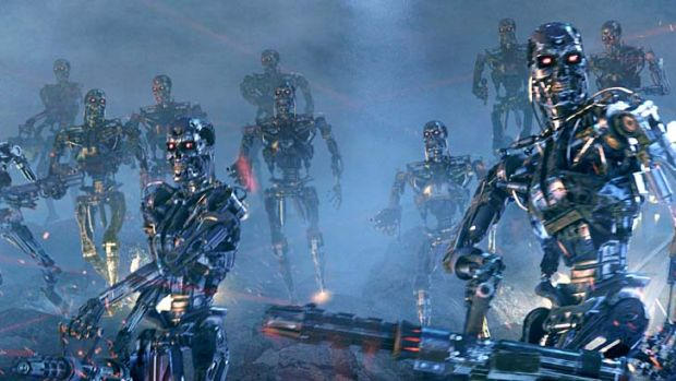 Murderous: The robots of the <em>Terminator</em> films fit the more destructive popular image of mechanised warfare.