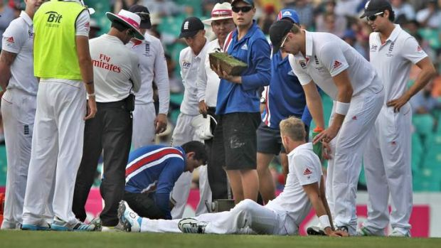 What next? England hope a change of dirt in the bowlers' run-up area might better help them come to grips with Australia.