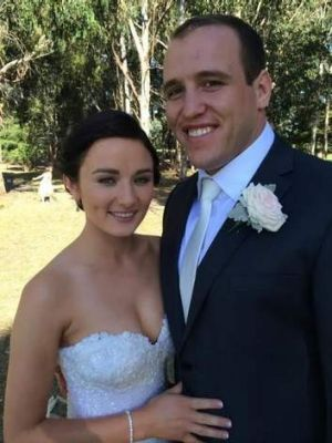 Ben Alexander of the Wallabies and Jen Elliot got married on Saturday at the Royal Canberra Golf Club.