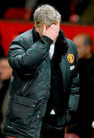 Feeling the pressure: Manchester United's manager David Moyes.