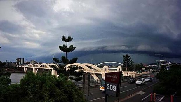 Storm clouds roll into Brisbane.