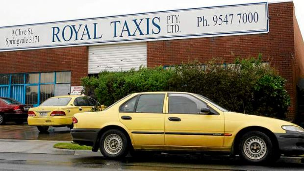 Royal Taxis depot in Springvale.