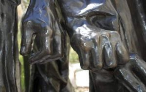 Detail from Rodin's <em>The Burghers of Calais</em>.