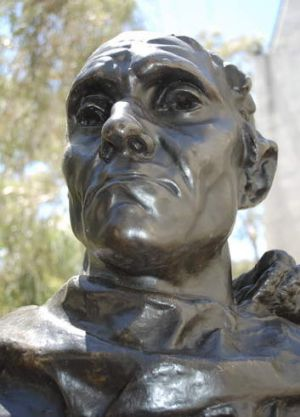 Jean d'Aire in Rodin's <em>The Burghers of Calais</em>.