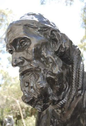 Eustace de Saint Pierre in Rodin's <em>The Burghers of Calais</em>.