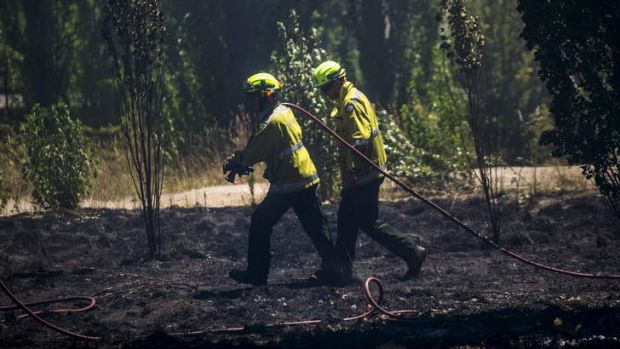 Police closed part of the Monaro Highway, just south of Johnson Drive, due to smoke caused by a grass fire on Monday ...