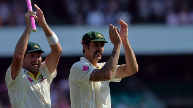 Just rewards: Ryan Harris moves up to a career-best third in the ICC bowlers' rankings, while pace partner Mitchell ...