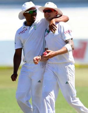 The South African challenge: Vernon Philander and Dale Steyn.