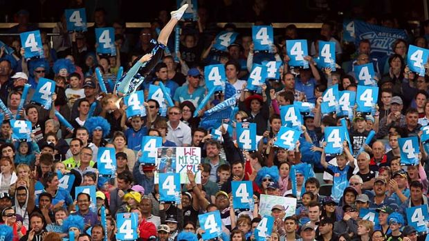 Spectators enjoy the atmosphere during the Big Bash League match between the Adelaide Strikers and the Sydney Sixers on ...