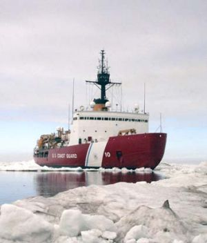 Rescue mission: The Polar Star is expected to reach the trapped ships within a week.