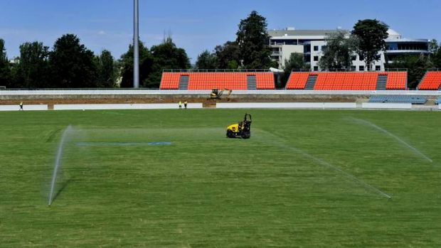 The new-look Manuka Oval is set to be a sell-out for the PM's XI clash with England.
