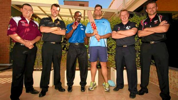 Captains of the ACCC (l-r): Todd Schloss (Qld), Rod Ford (WA), Andrew Mansale (EAP), Graeme Batty (NSW), Heath Pyke ...