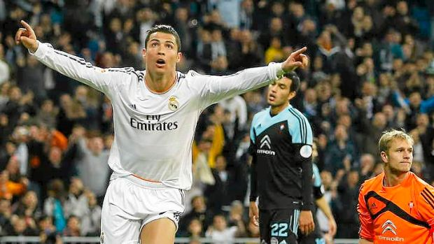 He scores when he wants to: Cristiano Ronaldo netted another two goals for Real Madrid.