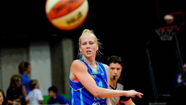 Canberra Capitals star Abby Bishop.