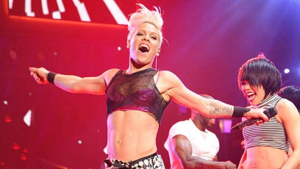 All about love and record sales: Pink.