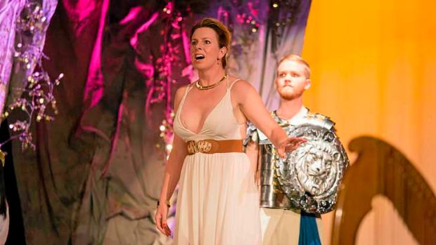 Fiona Campbell as Dido in <i>Dido and Aeneas</i> at the Peninsula Music Festival.