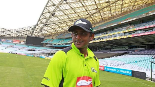 The heat is on: Ajantha Mendis will make his debut for Sydney Thunder against Brisbane Heat on Wednesday night.