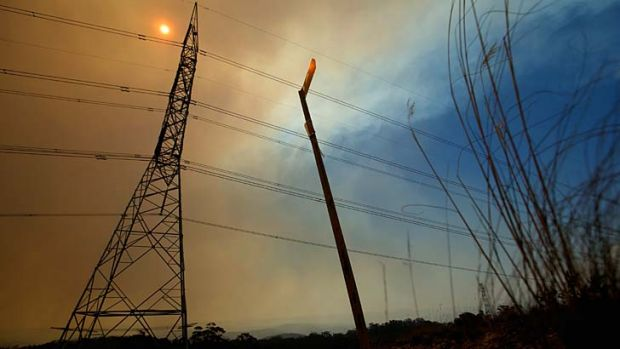 Alight: Fires sparked by lightning are burning through the Wollemi National Park and have the potential to threaten ...