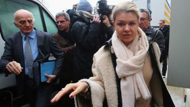 Corinna Schumacher arrives at the Grenoble University Hospital Centre where her husband former German Formula One driver ...