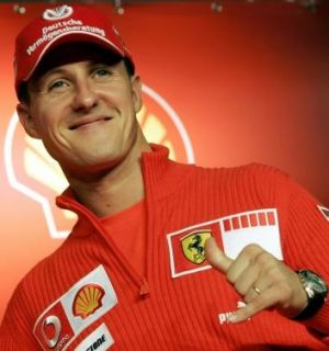 Michael Schumacher of Germany in 2006 representing Ferrari in Formula One.