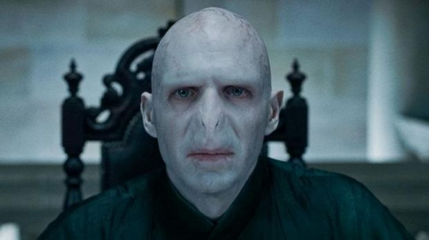 Ralph Fiennes as Lord Voldemort in Harry Potter and the Deathly Hallows.