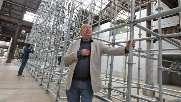 French artist Christian Boltanski pictured with his installation called Chance, at Carriageworks as part of he Sydney ...