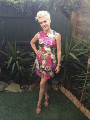 Cutting it too fine: Lynda Reid's now infamous floral dress.