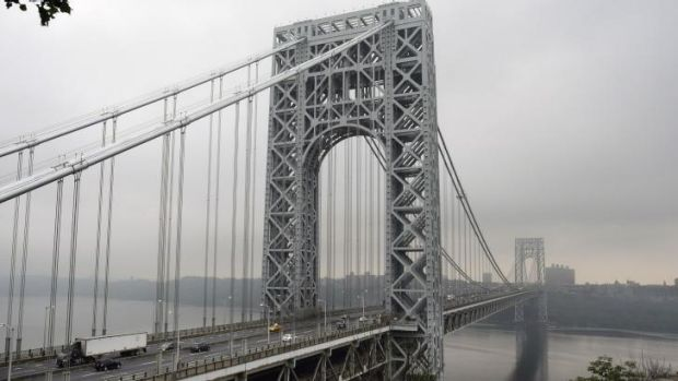 George Washington Bridge, one of the world's busiest.