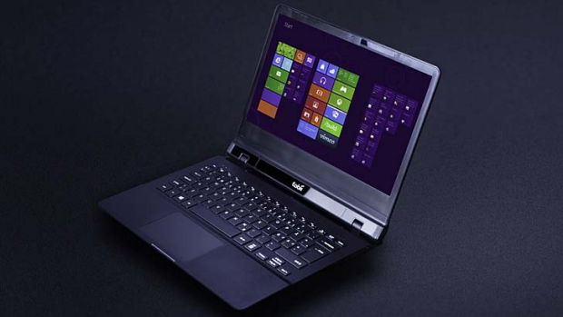 The Tobii eye tracker inbuilt in a laptop.