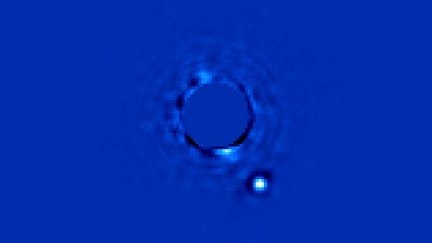The far-distant alien planet Beta Pictoris b pops right out in a picture by the Gemini Planet Imager.