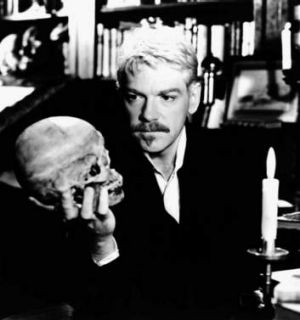 Complex roles: Kenneth Branagh (top) in the title role as <i>Hamlet</i> in the 1997 film.