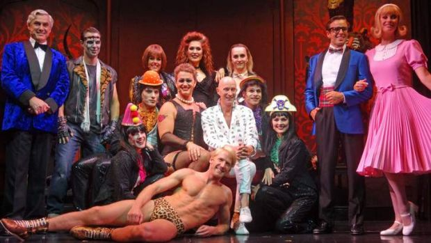 The cast of the Rocky Horror Show in Brisbane.