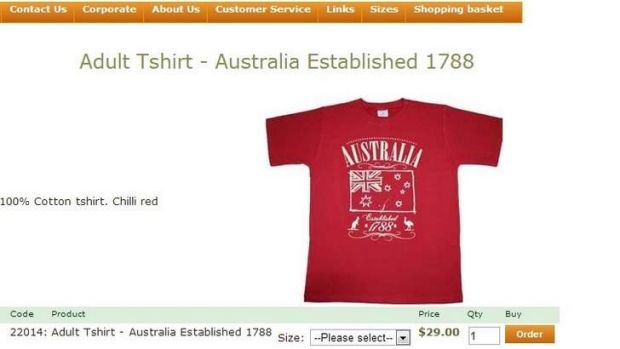 The shirt is Australian made and the company supports indigenous education.