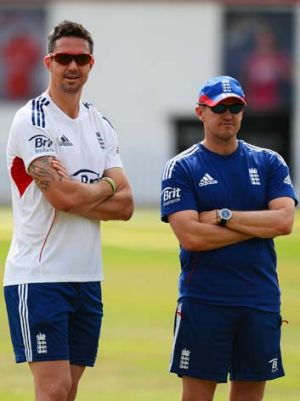 Kevin Pietersen and Andy Flower.