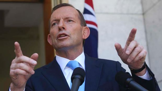 Keeping it secret: Prime Minister Tony Abbott.
