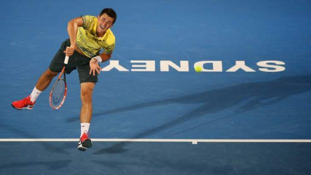 Ace up his sleeve: Bernard Tomic is on track for his second straight Sydney final.