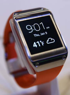 Wearables: Samsung's Galaxy Gear smart watch.