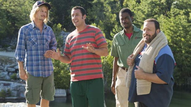 Comedic actor Adam Sandler still holds audiences' favour with <i>Grown Ups 2</i>.