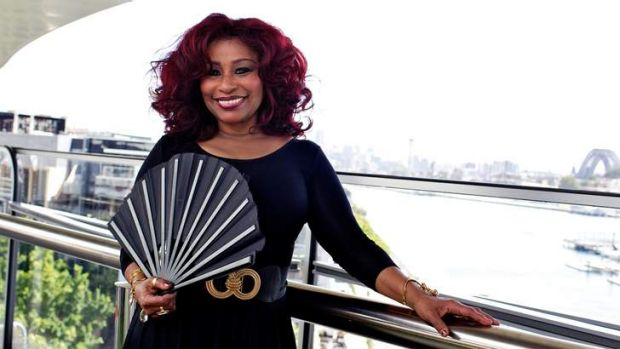 Grand dame: the legendary Chaka Khan in Sydney.
