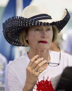 Gai Waterhouse at the first day of the 2014 Magic Millions.