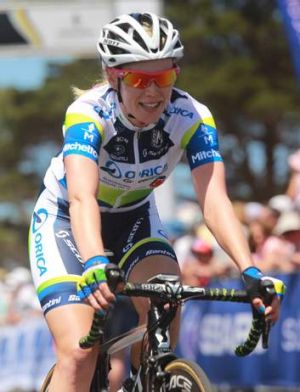 Pedal power: Tiffany Cromwell is aiming for Saturday's national title race.
