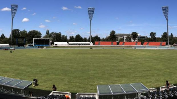 The new-look Manuka Oval.