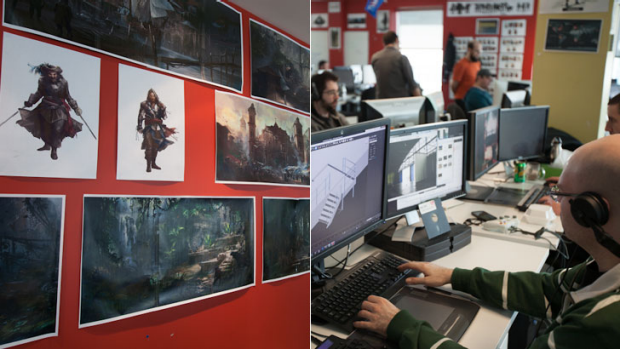 The Development of Assassin's Creed IV Black Flag in Montreal, Canada.
