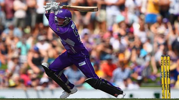 Purple reign: Ben Dunk leads the Hobart Hurricanes to a resounding victory over Sydney Thunder.