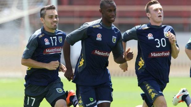 Homecoming: Bernie Ibini returned from his Chinese stint to rejoin his Central Coast Mariners teammates and faces ...